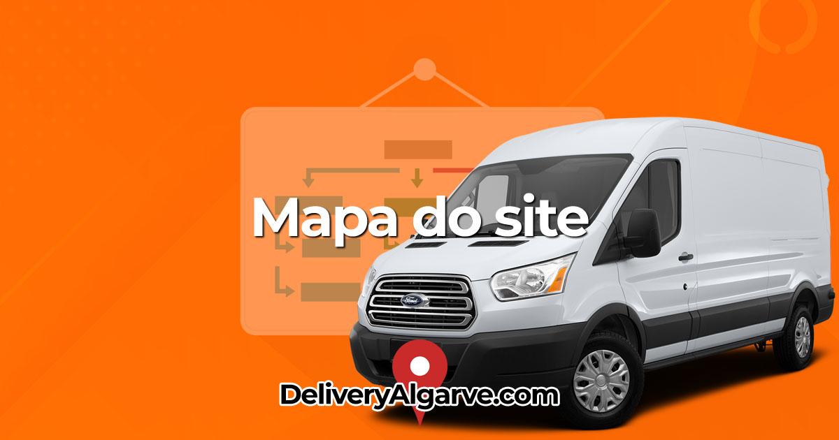 Mapa do site - DeliveryAlgarve