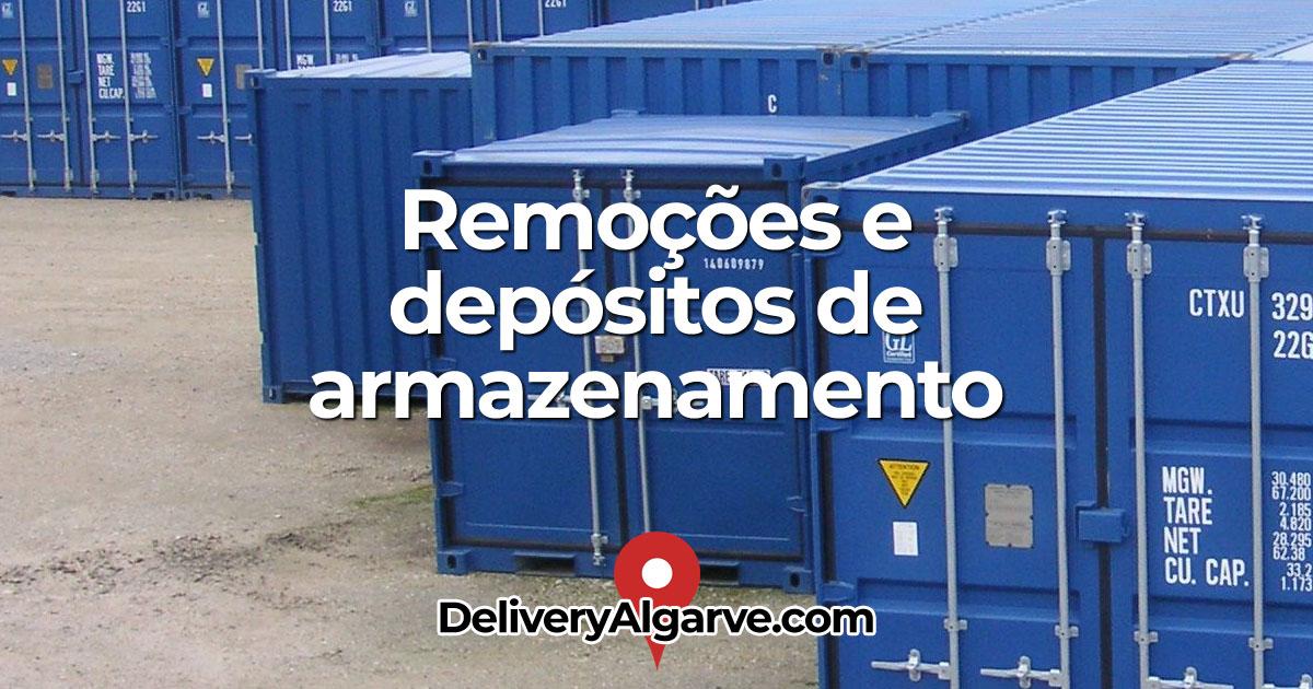 Remoções e depósitos de armazenamento - DeliveryAlgarve OG01
