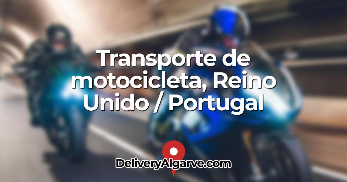 Transporte de motocicleta Reino Unido Portugal - DeliveryAlgarve OG01